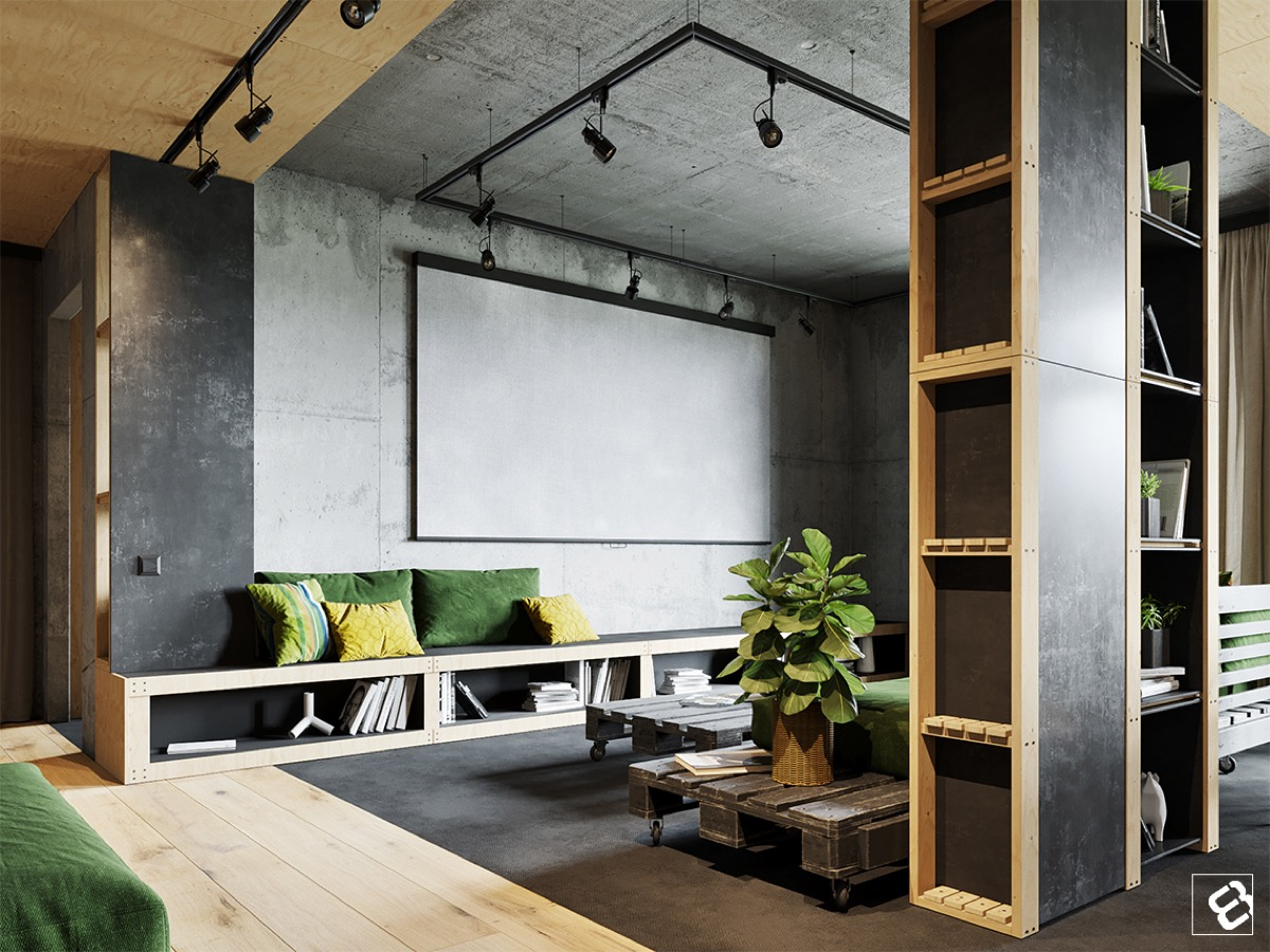 Industrial style living room design the essential guide - Industrial design home ...