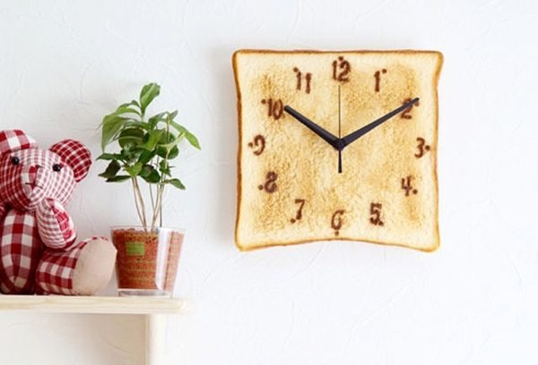 BUY IT Toast Clock Kawaii Design
