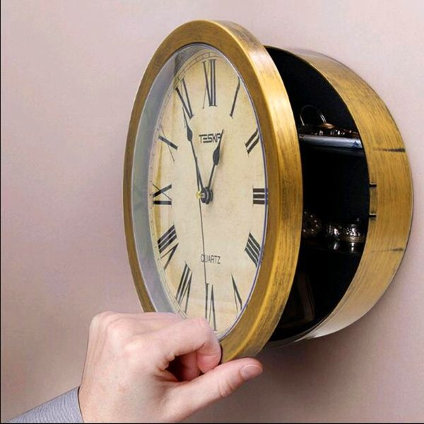 It Secret Compartment Wall Clock