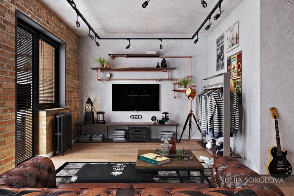 How to design industrial style bachelor pads 4 examples - Bachelor pad ...