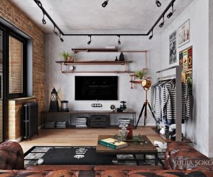 Industrial Interior Design Ideas love the feeling of endless possibilities in big open spaced lofts industrial living roomsindustrial interiorsrustic Industrial Interior Design Ideas