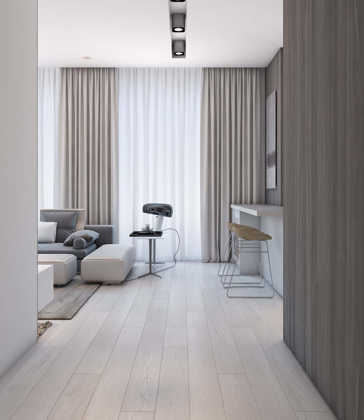 Beige Interior - A simple modern apartment in moscow