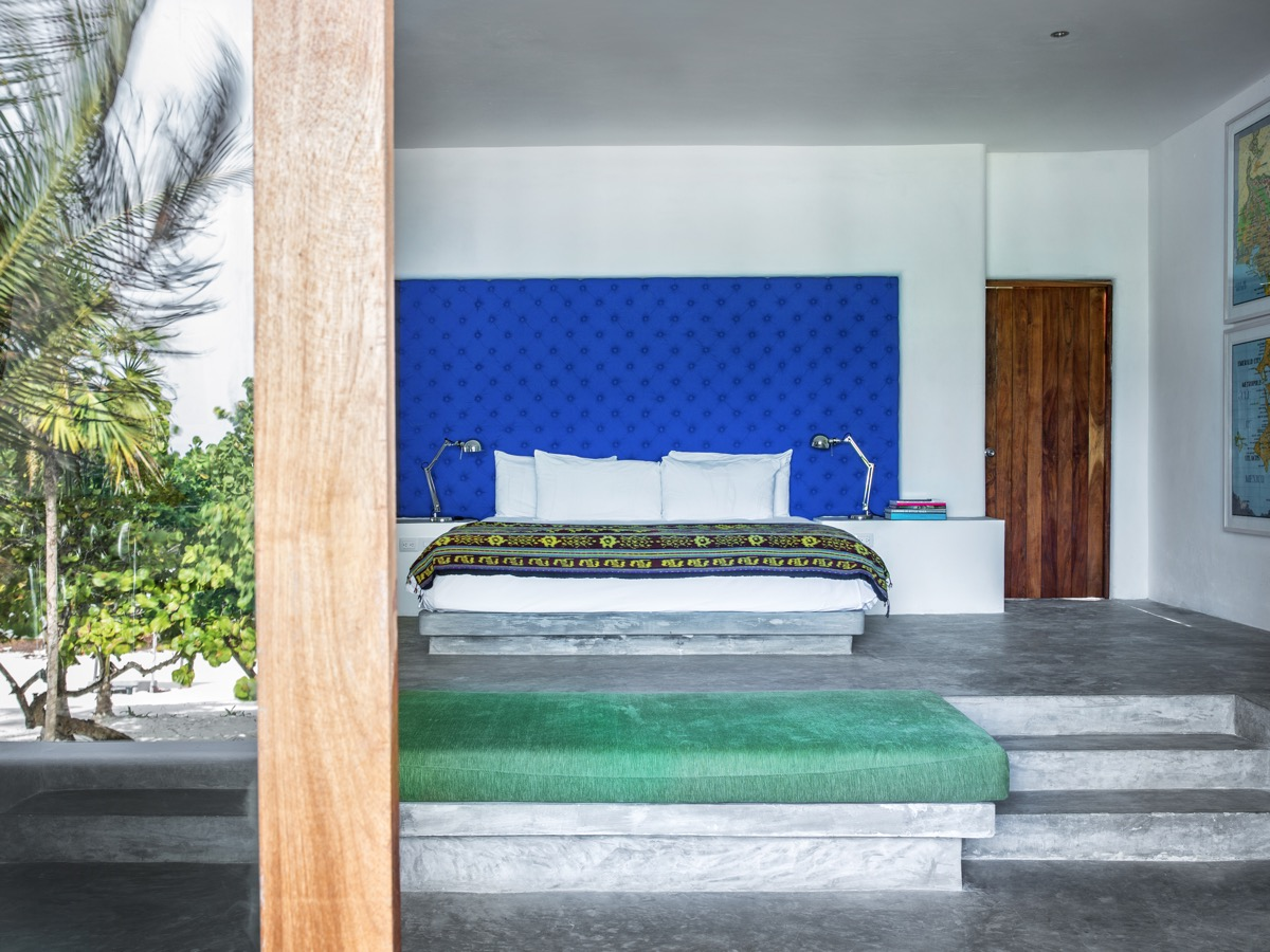 Blue Headboard - You can now rent pablo escobar s beachside villa in tulum