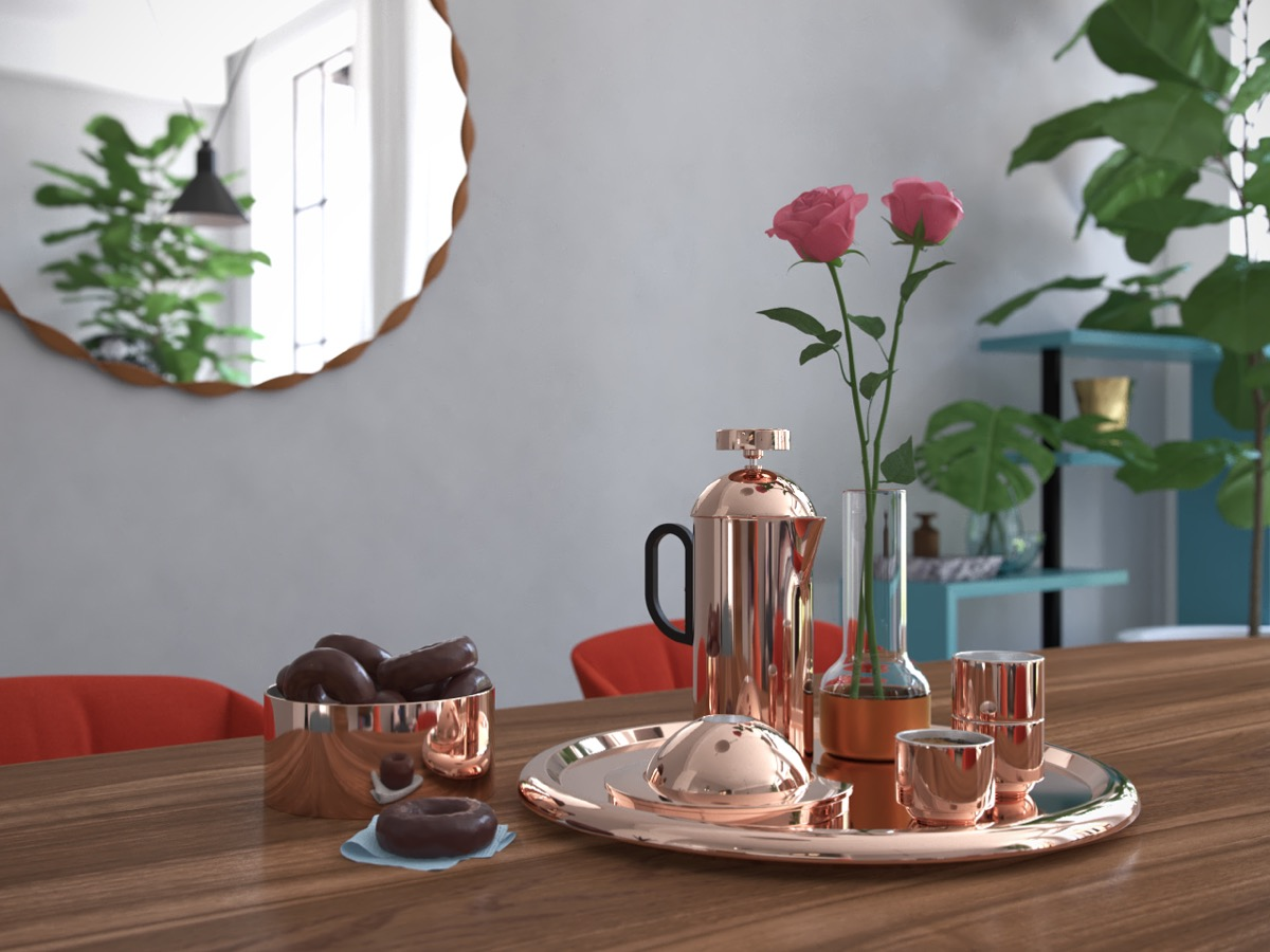 Copper Pitcher - 4 chic homes that utilize lofted spaces