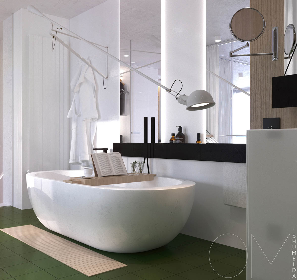 Deep White Tub - 4 chic homes that utilize lofted spaces