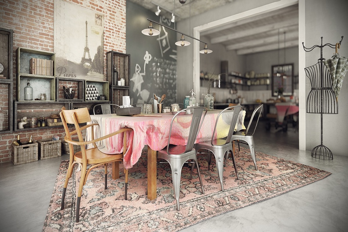 Industrial style dining room design the essential guide - Decoration industrielle vintage ...