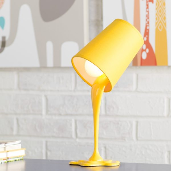 BUY IT   Playful Yellow Table Lamp. 50 Uniquely Cool Bedside Table Lamps That Add Ambience To Your