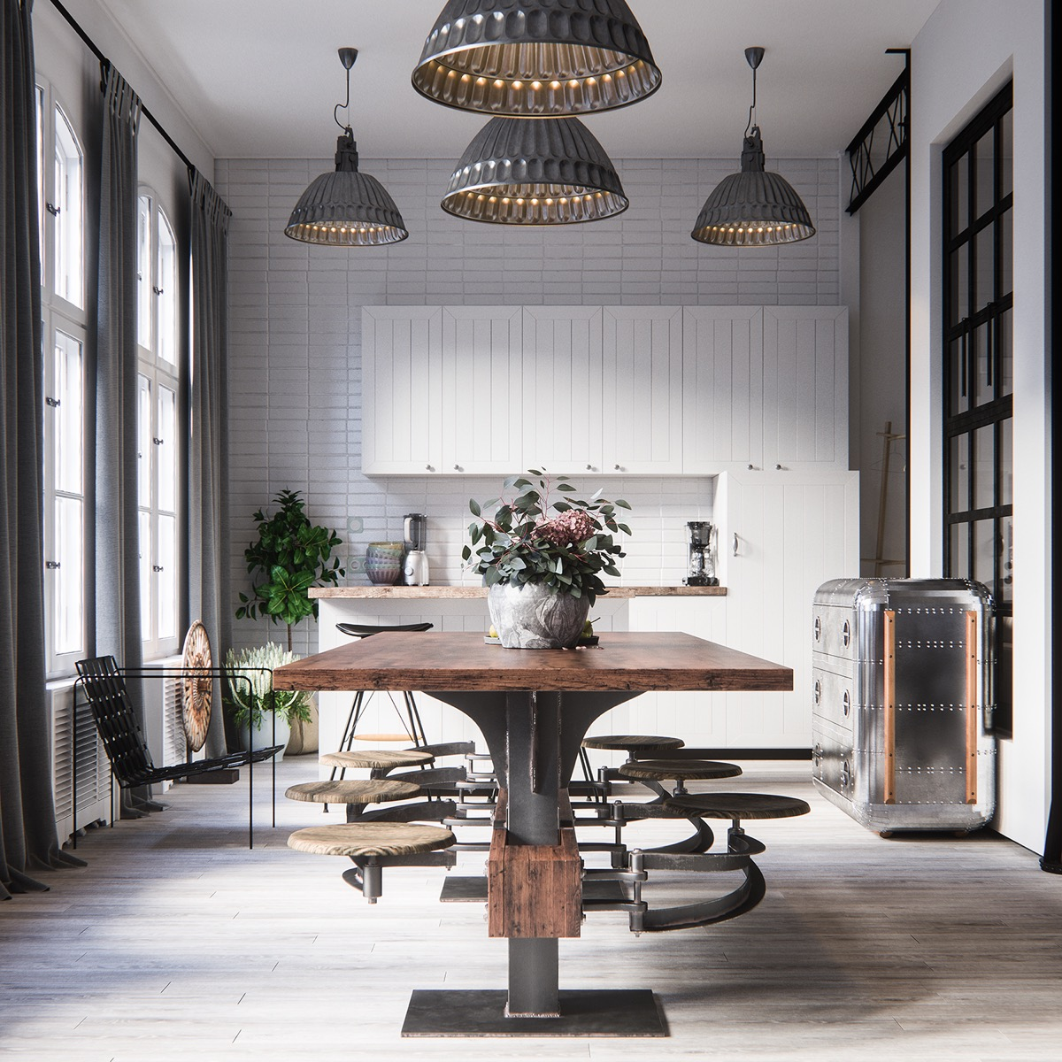 Industrial style dining room design the essential guide for Styling dining room table