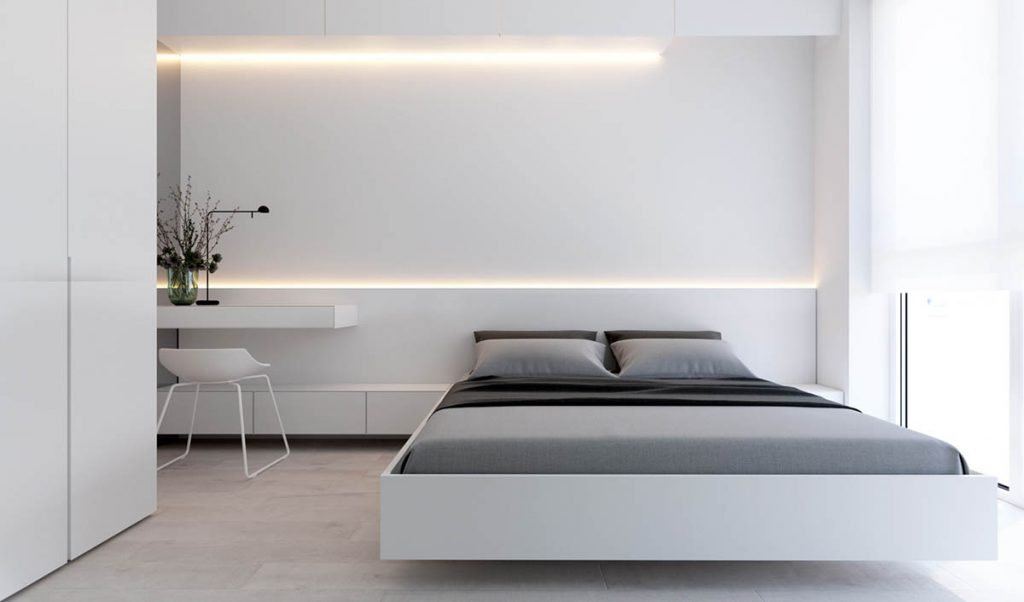 Minimalist interior design ideas for Minimalist bedding design