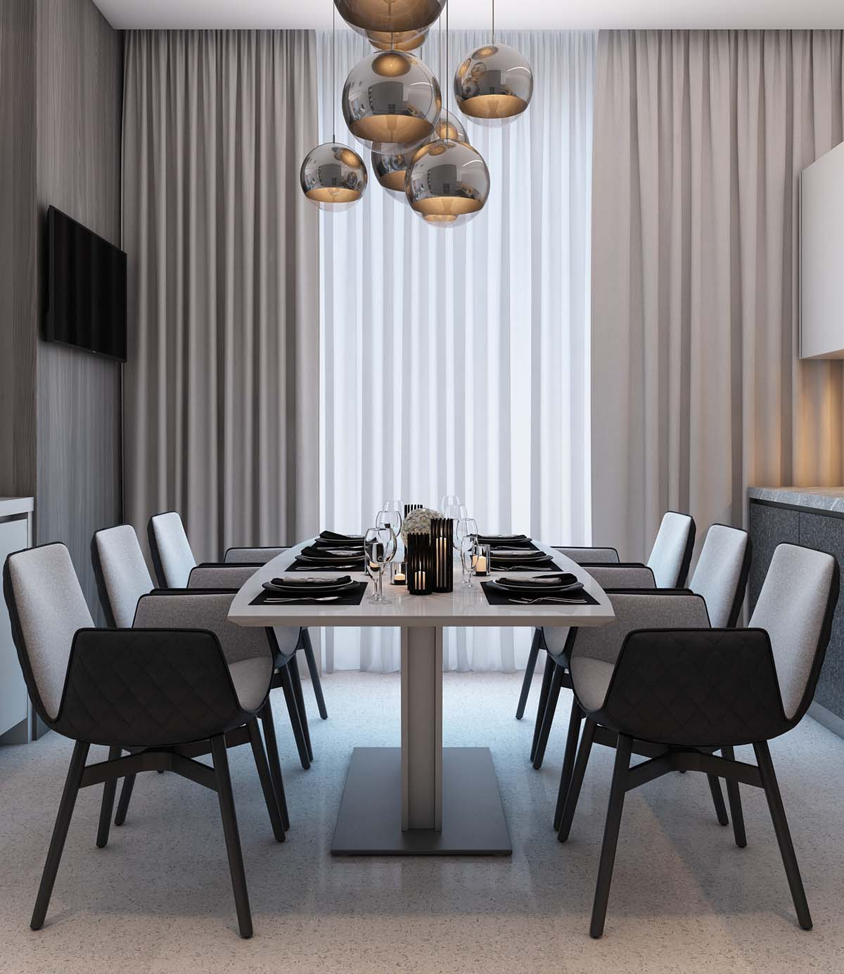 Modern Dining Chairs - A simple modern apartment in moscow