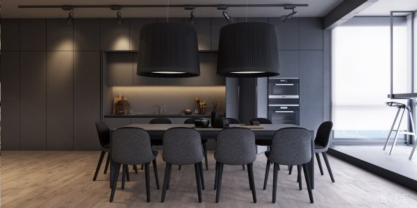 How to use neutral colors in interior design 2 examples that show the easy minimalist way - Stylish modern dining sets for neutral toned interior ...