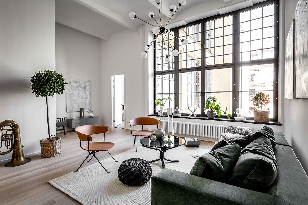 This Initial Space Is Really A Bright Plus Spacious Loft Style Apartment The Primary Living Region General Simple Along With Common Helpful Elements
