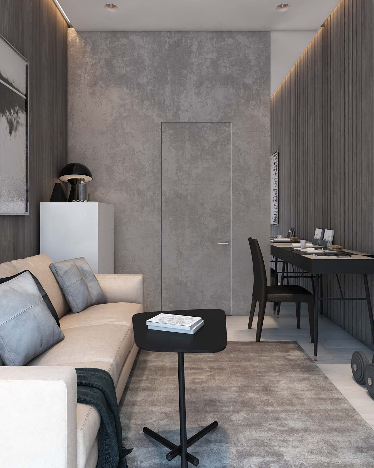 Neutral Color Scheme - A simple modern apartment in moscow