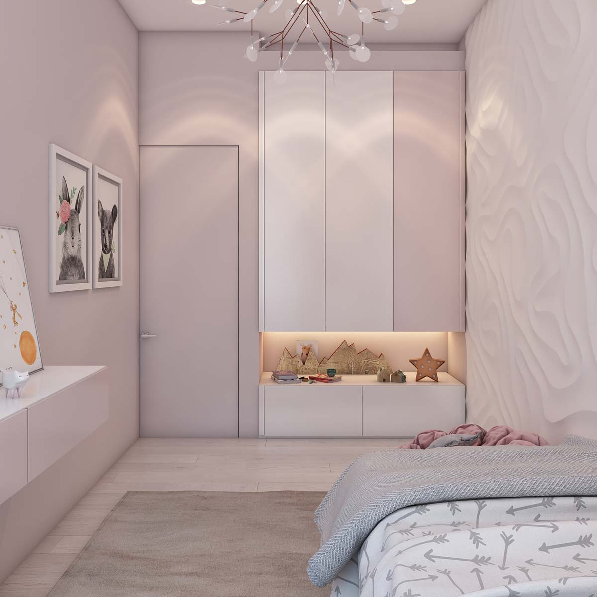 Pink Room Design - A simple modern apartment in moscow