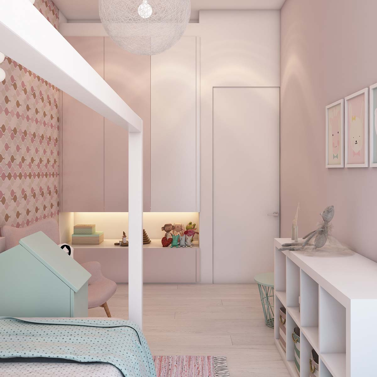 Pink Wallpaper - A simple modern apartment in moscow