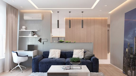 2 One-Bedroom Apartments with Modern Color Schemes