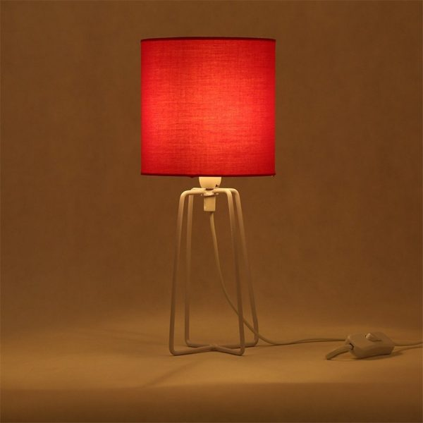 buy it red bedside table lamp