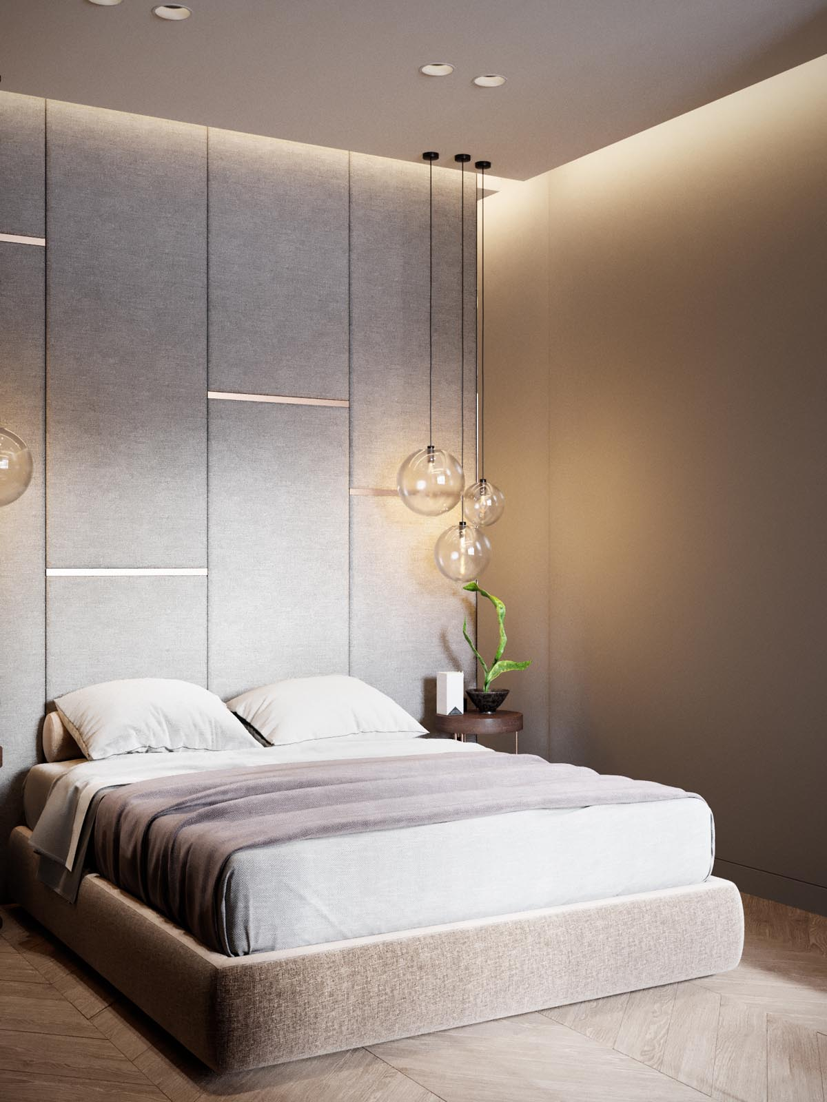 Home design under 60 square meters 3 examples that for Simplistic bedroom