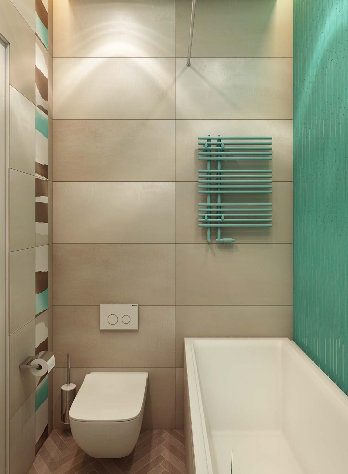 Small Bathroom Design - A simple modern apartment in moscow
