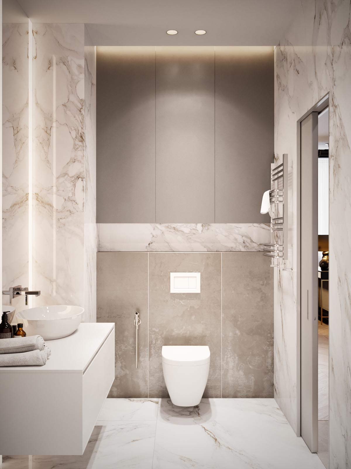Home design under 60 square meters 3 examples that incorporate luxury in small spaces for Home decor interiors bathroom