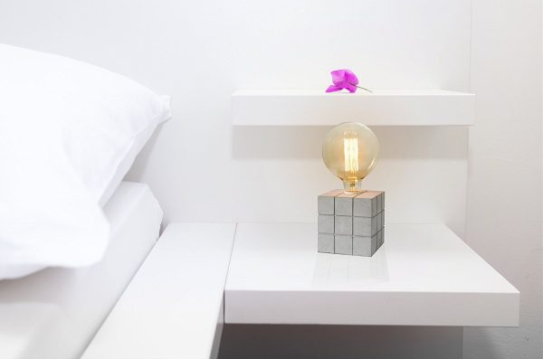 BUY IT · Cube Shaped Concrete Table Lamp: Small ...