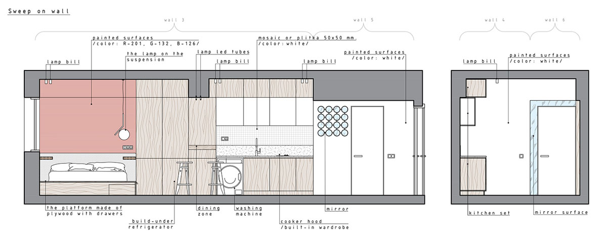 Super Compact Spaces A Minimalist Studio Apartment Under 40 Square Impressive One Bedroom Apartment Plan Minimalist