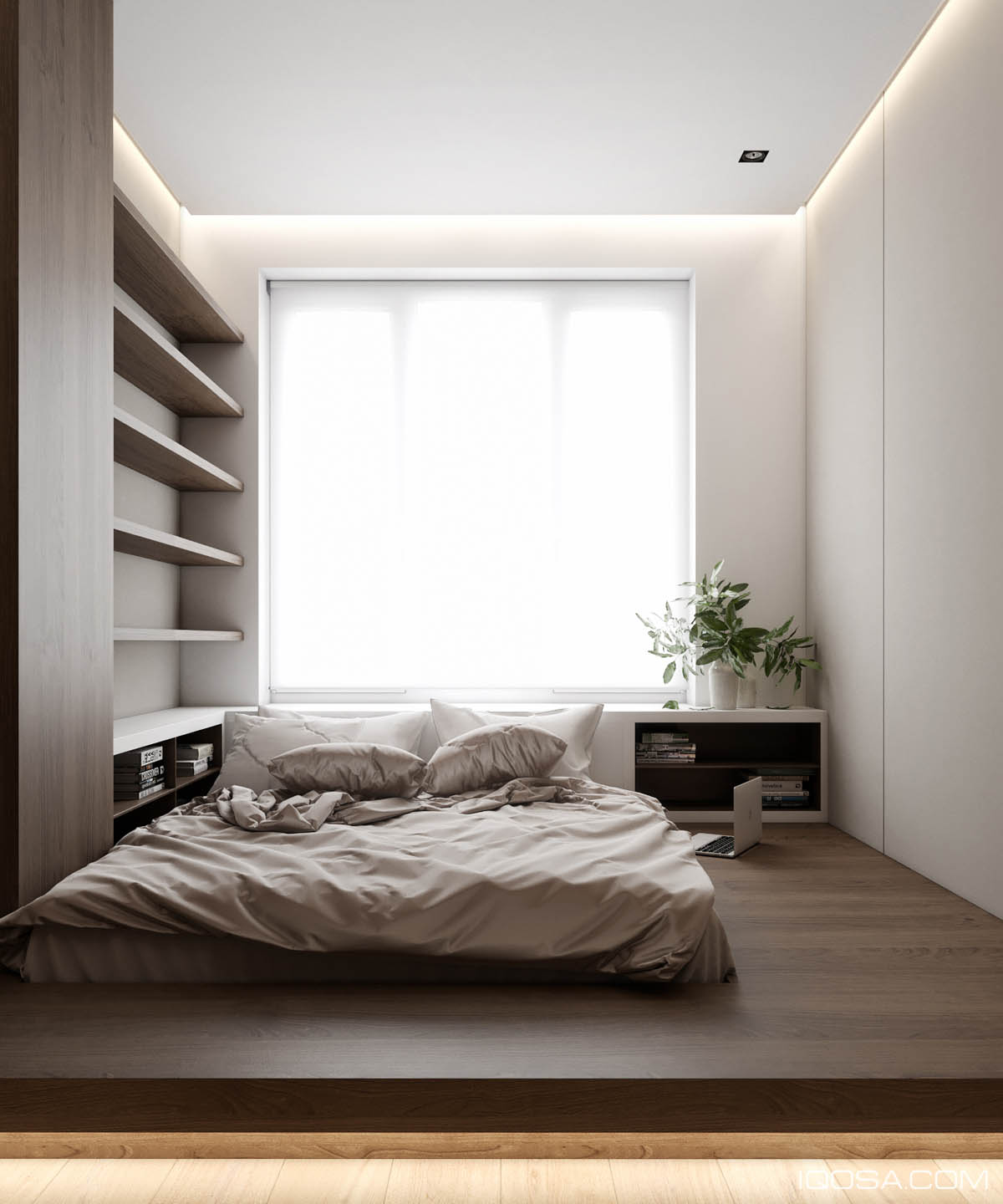 Home design under 60 square meters 3 examples that incorporate luxury in small spaces - Bedroom furniture small spaces minimalist ...