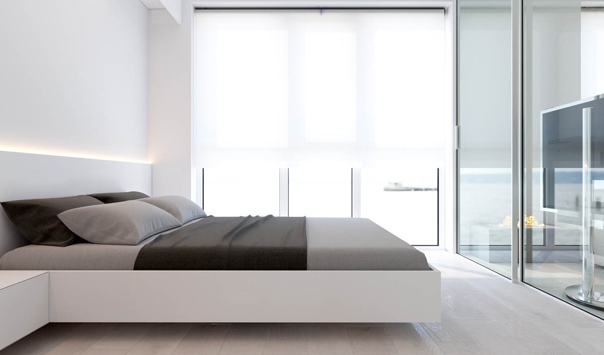 2 simple modern homes with simple modern furnishings for Simplistic bedroom