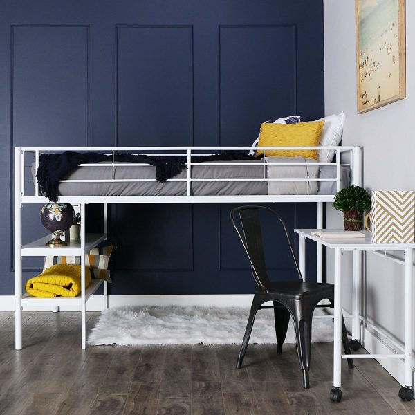 40 beautiful kids 39 beds that offer storage with sweet dreams for White metal bunk bed