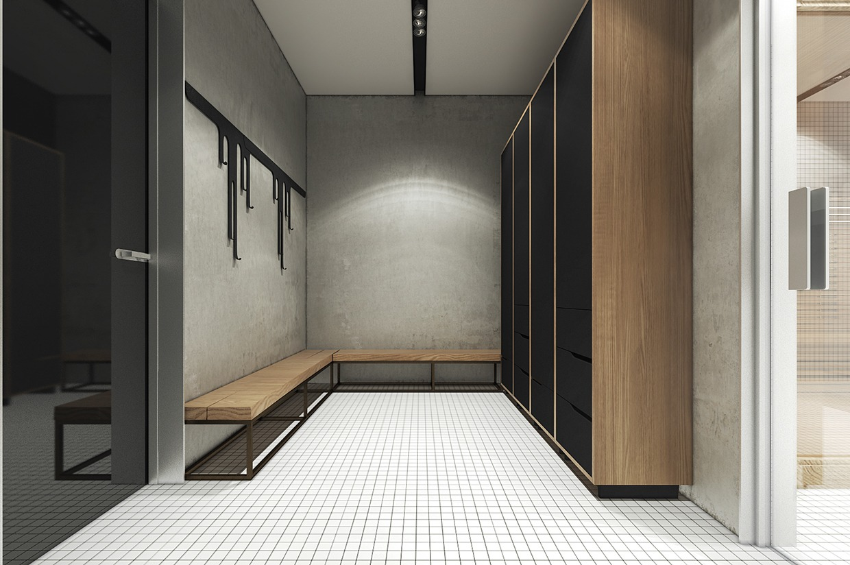 Black Wardrobes - 4 interiors where wood and concrete meet