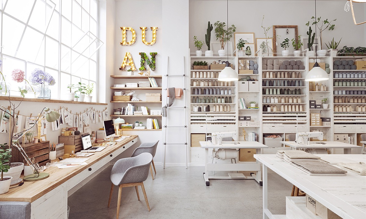 Craft Room Decor - Scandinavia meets japan in these minimalist work spaces