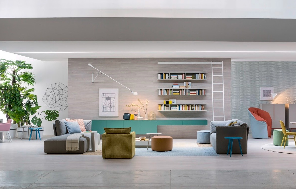 Living rooms for book lovers for Room visualizer furniture