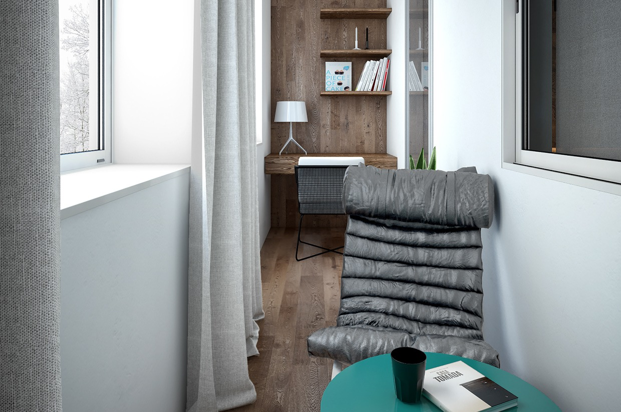 Home Office - 4 interiors where wood and concrete meet