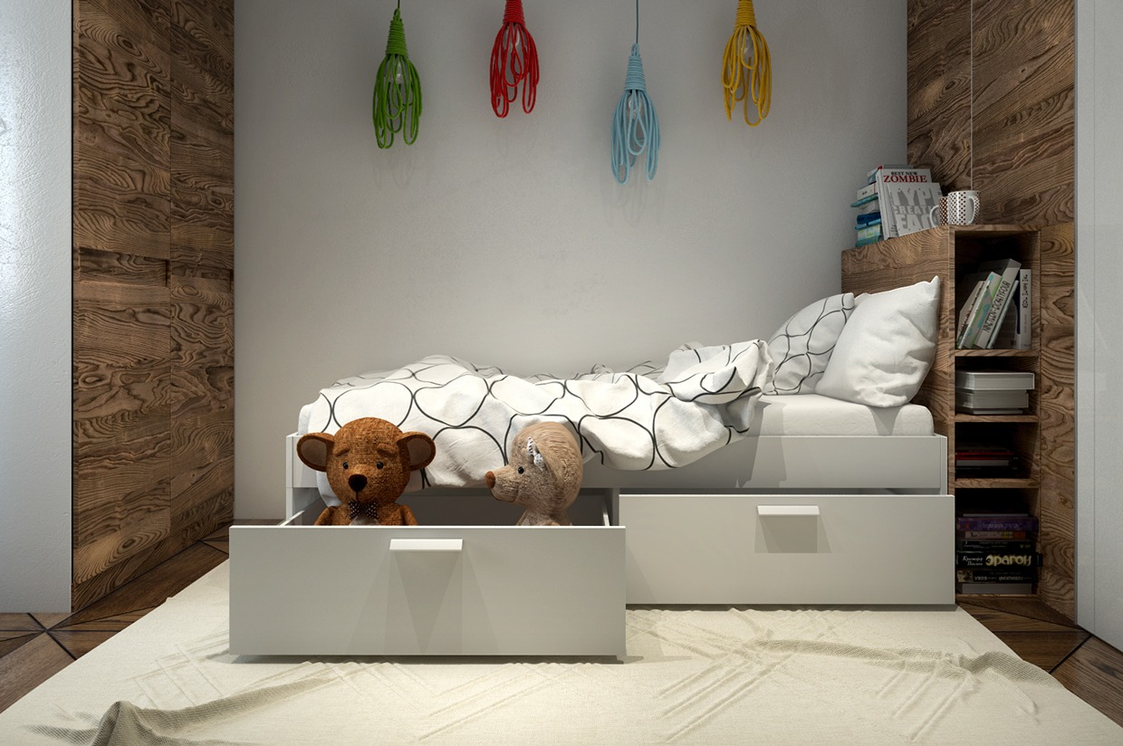 Kid S Bed - 4 interiors where wood and concrete meet