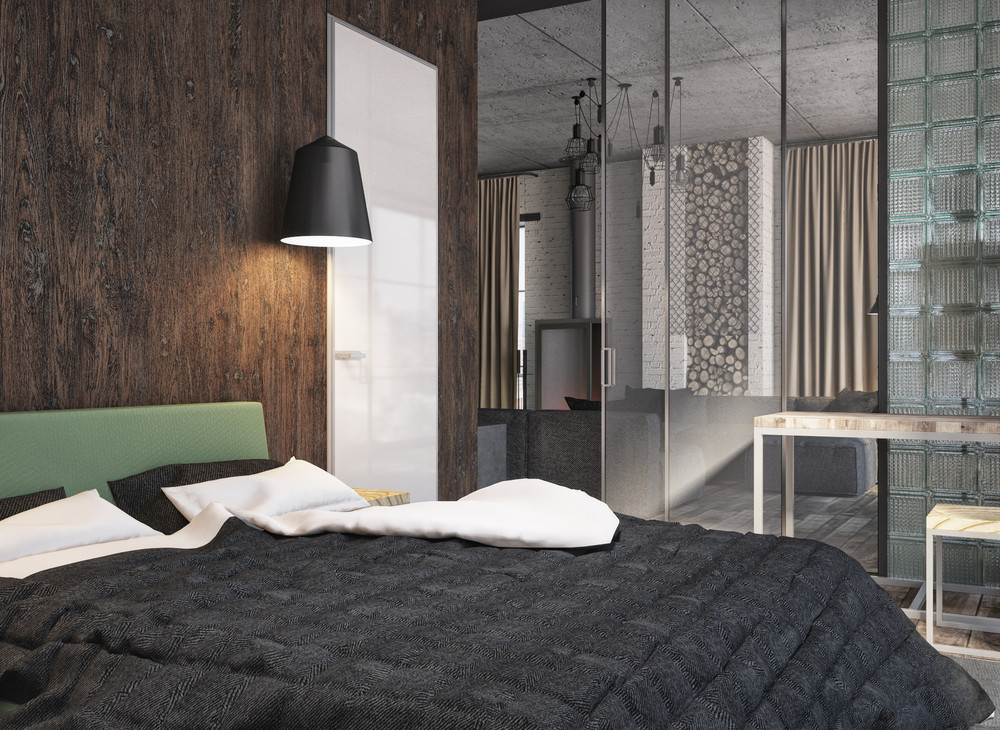 Modern Bedroom Design - 4 interiors where wood and concrete meet