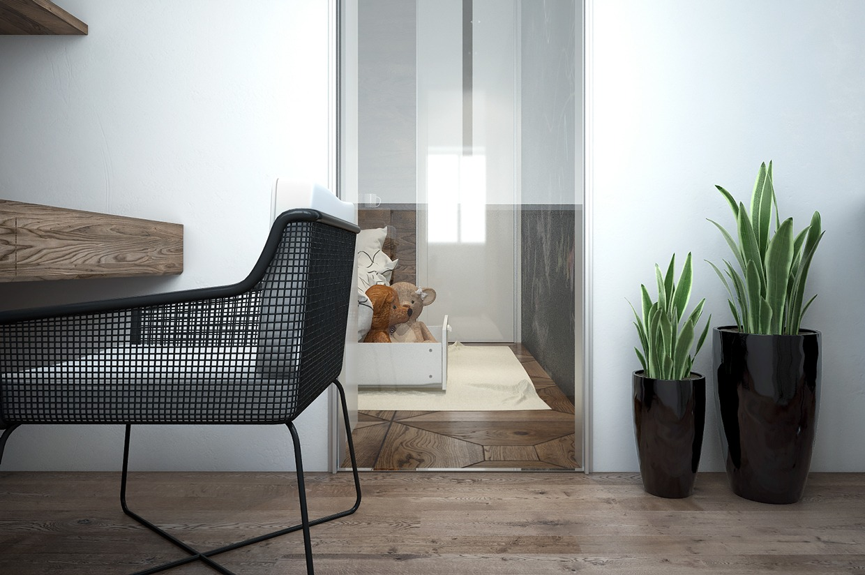 Stylish Desk Chair - 4 interiors where wood and concrete meet