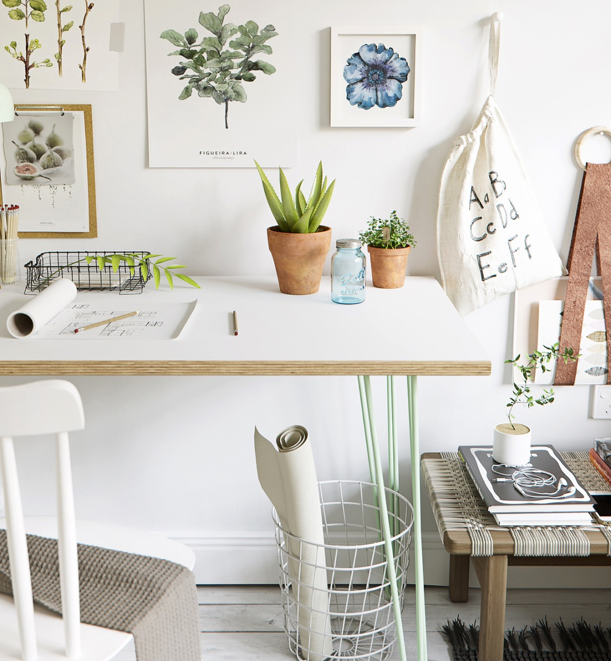 Succulent Planters - Scandinavia meets japan in these minimalist work spaces