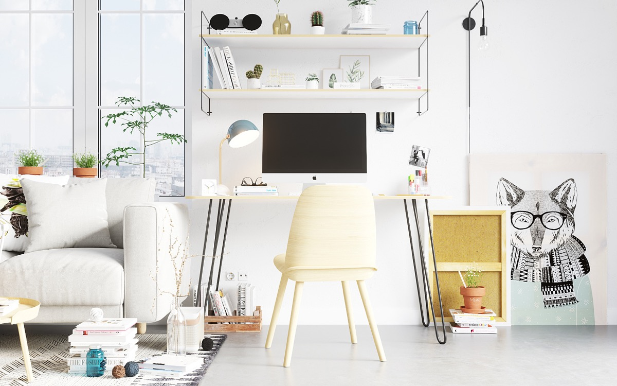 Scandinavia meets japan in these minimalist work spaces Fun wall shelves