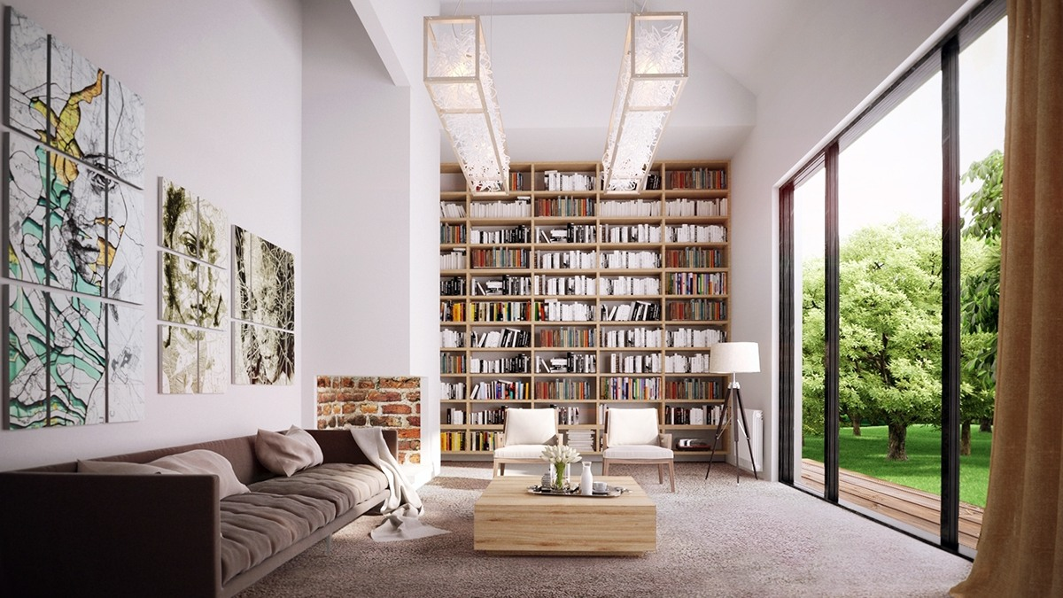 Living Rooms for Book Lovers
