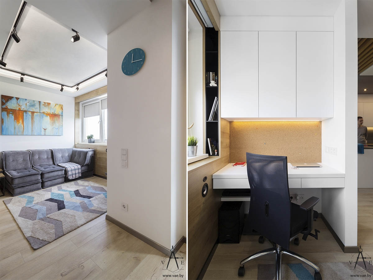 3 small apartments that make the best of the space they have for Studio apartment office