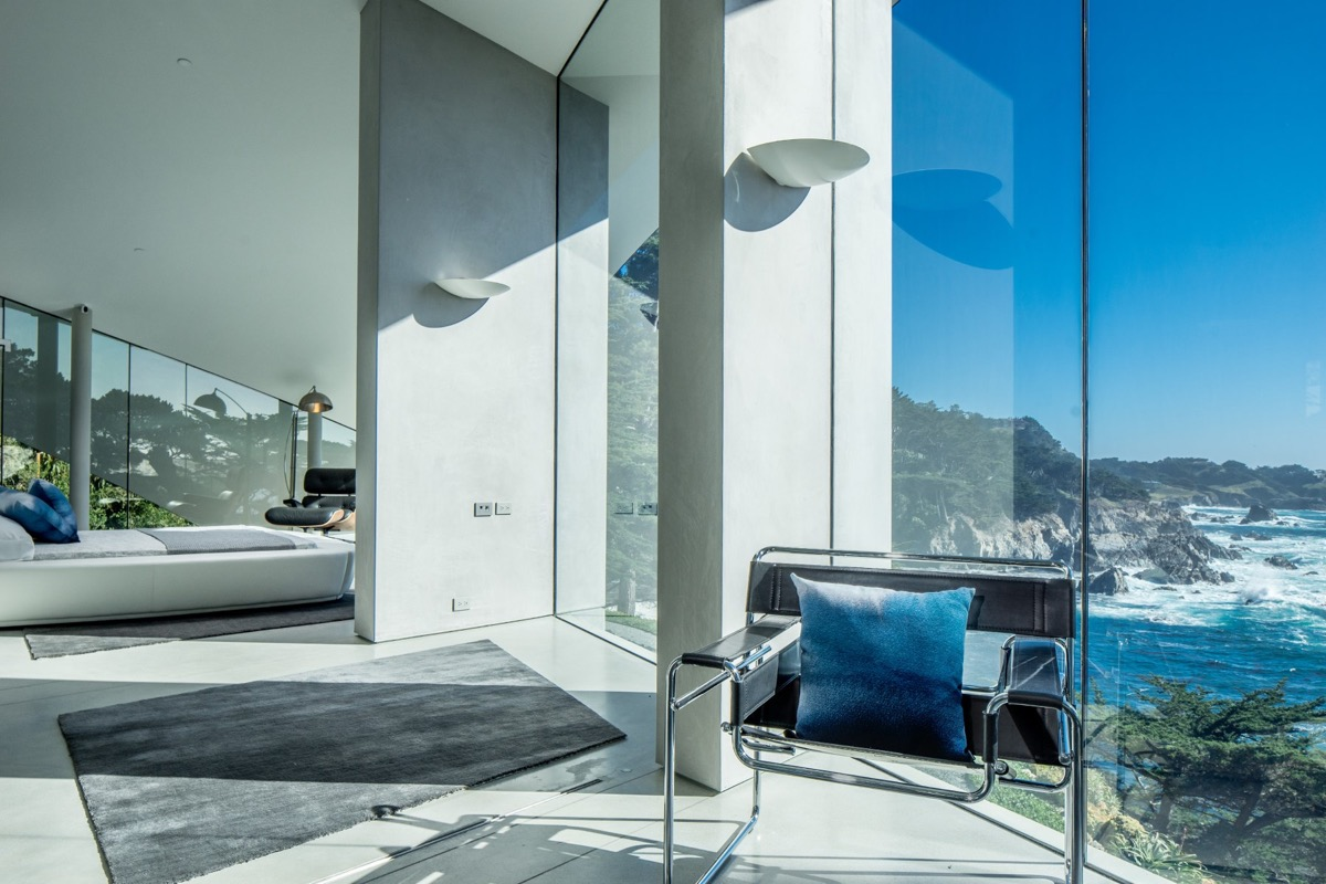 Glass Wall Design - A stunning butterfly inspired house on the california coast