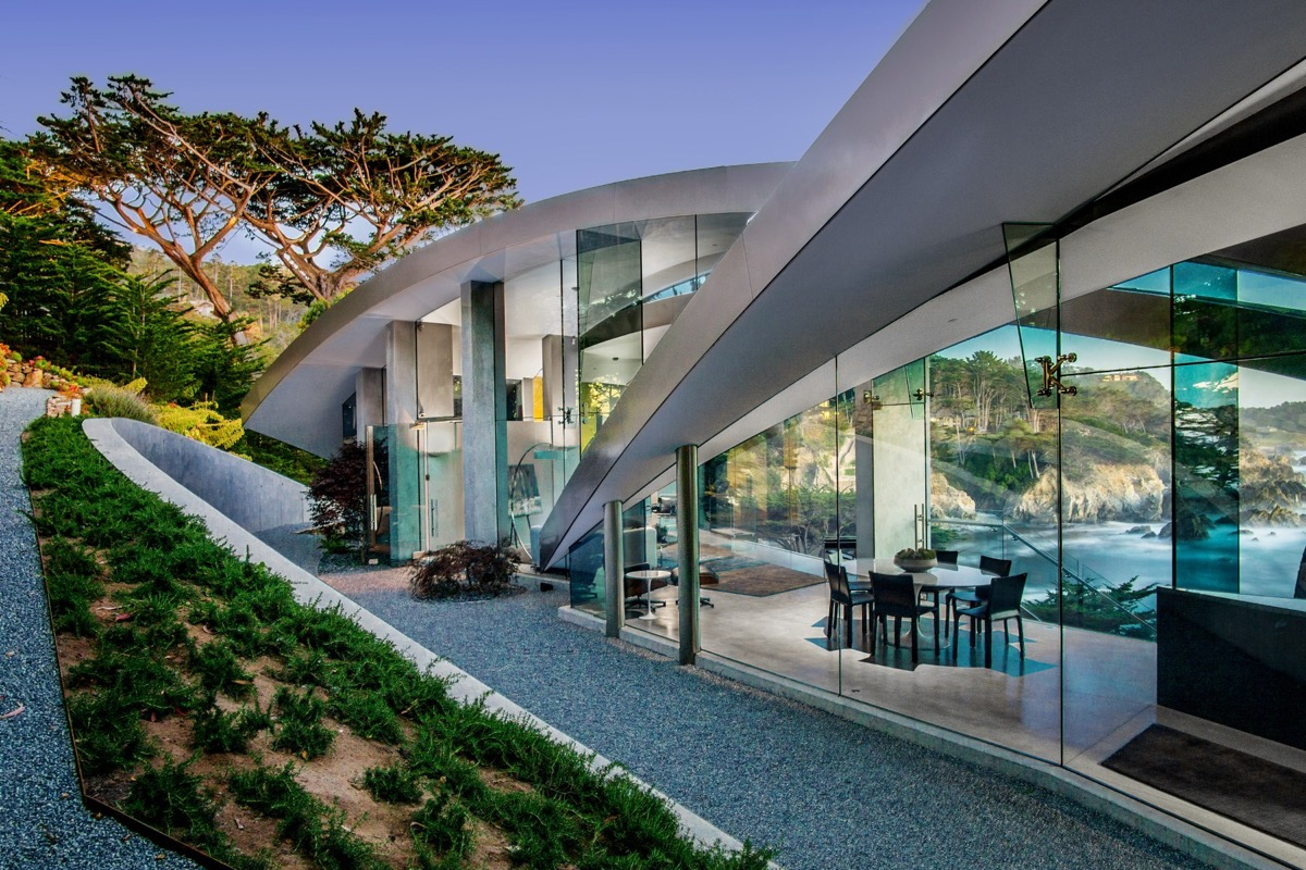 Home With Landscaping - A stunning butterfly inspired house on the california coast