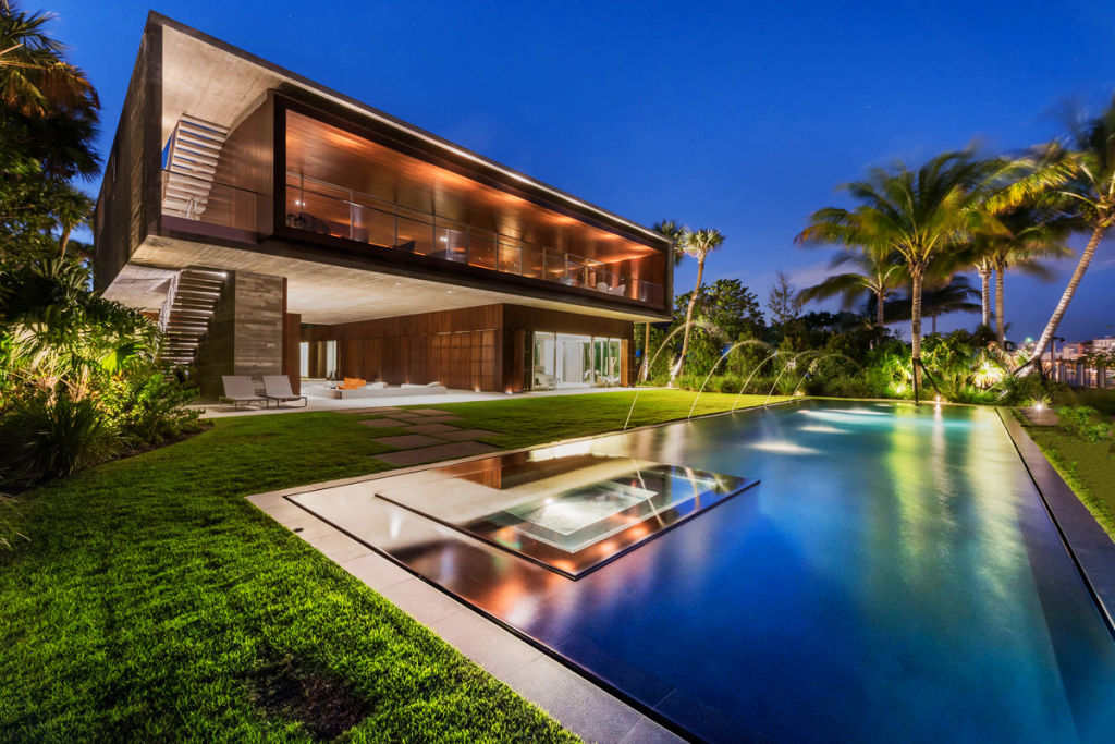 A luxury miami beach home with pools natural lagoons and a rooftop garden - Inside luxury beach homes ...