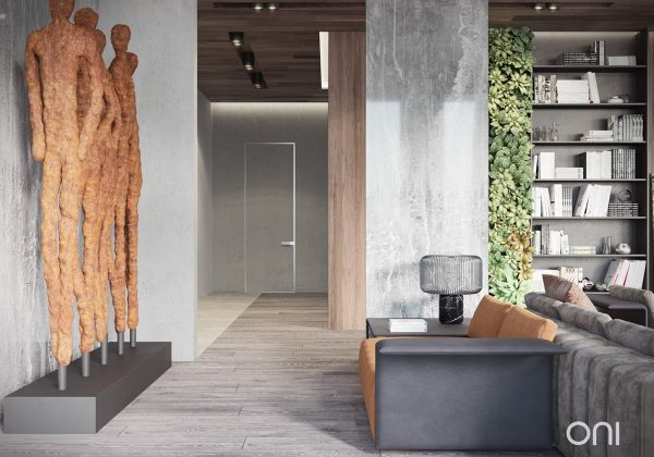 It Is Impossible Not To Be Drawn To The Sculptural Work In This Apartment.