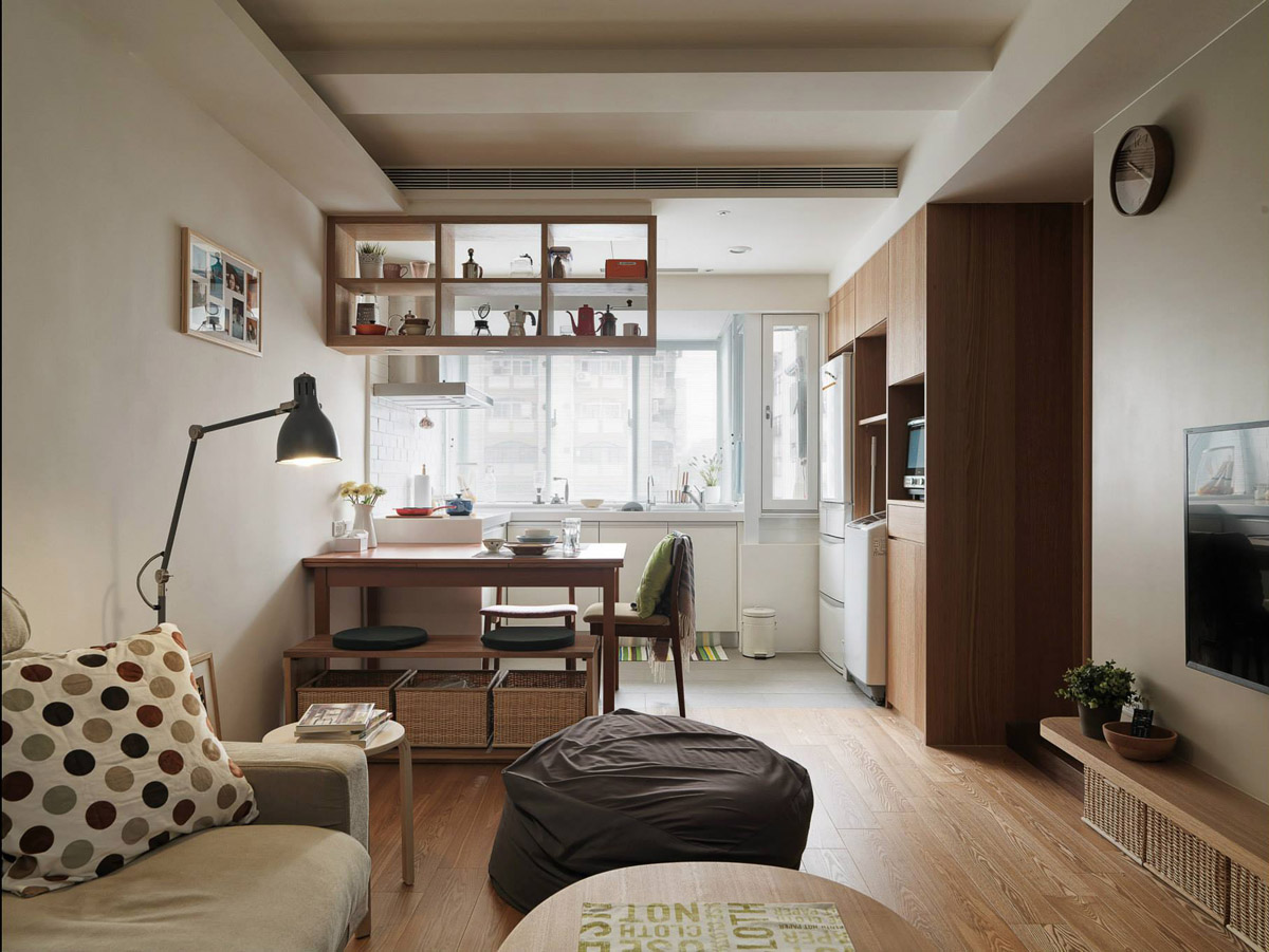 3 small apartments that make the best of the space they have for Living room setups for apartments