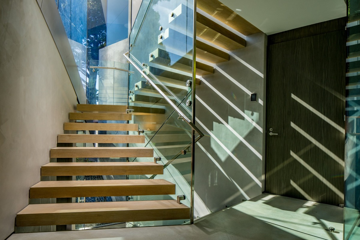 Unique Staircase Design - A stunning butterfly inspired house on the california coast
