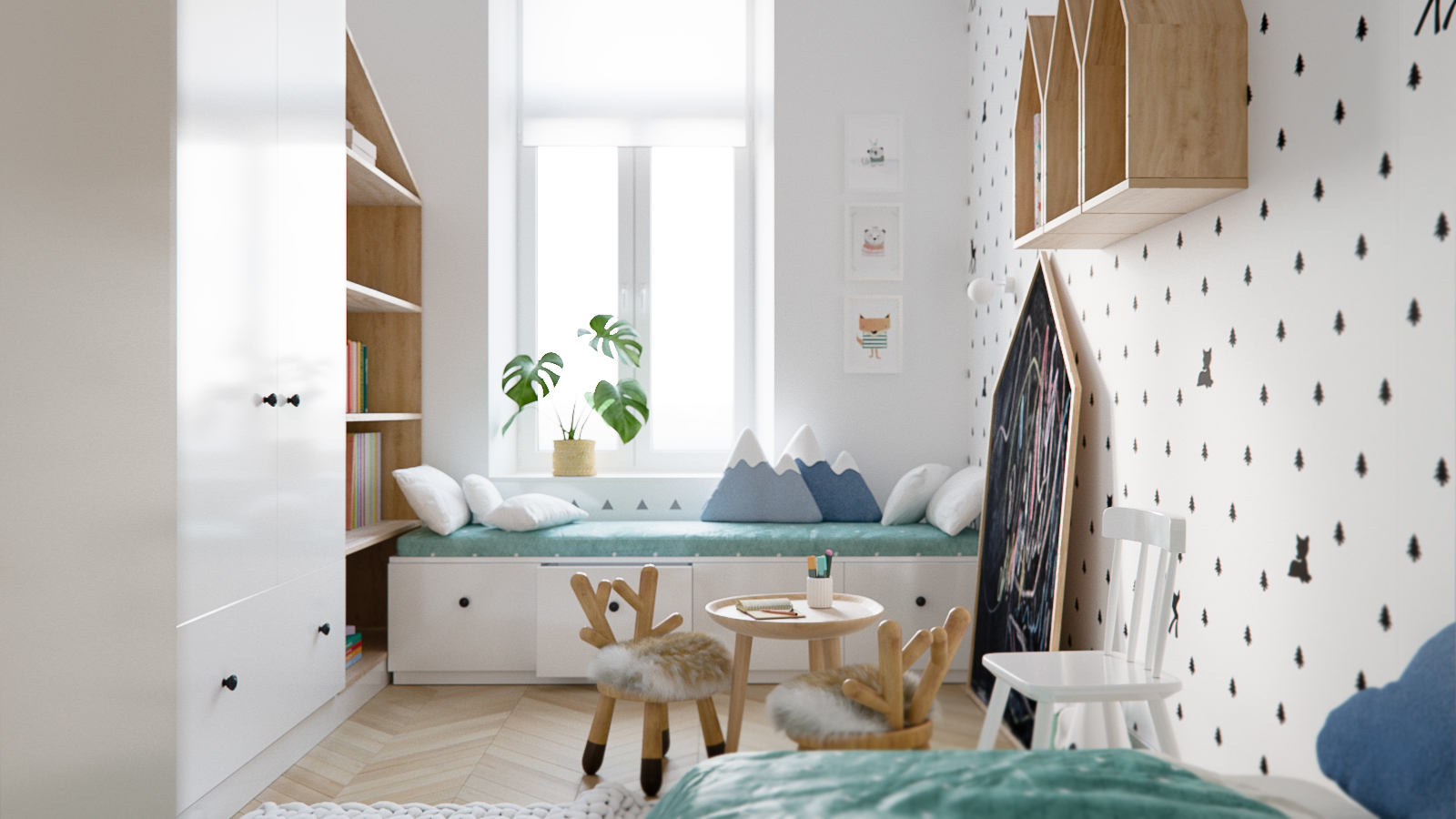 Modern Scandinavian Style Home Design For Young Families: 2 Examples