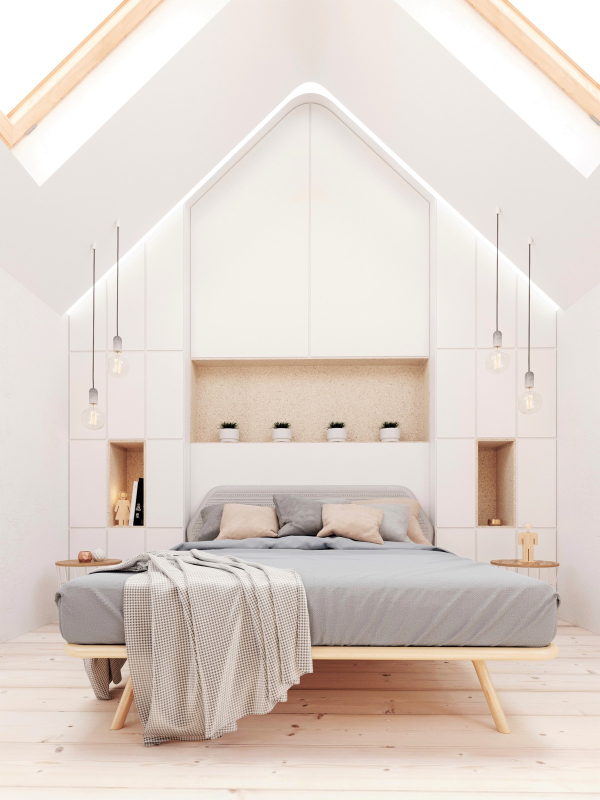 32 white bedrooms that exude calmness for Home designing com