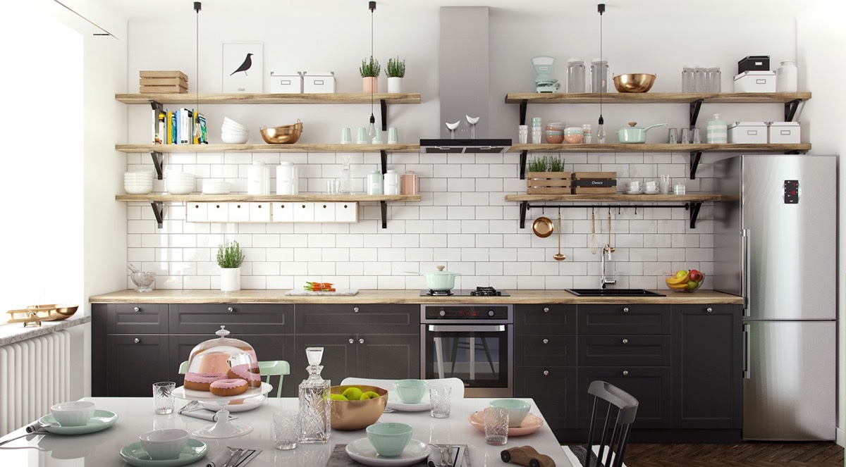 shelving for kitchen beautiful bright shelves designs rilane floating with
