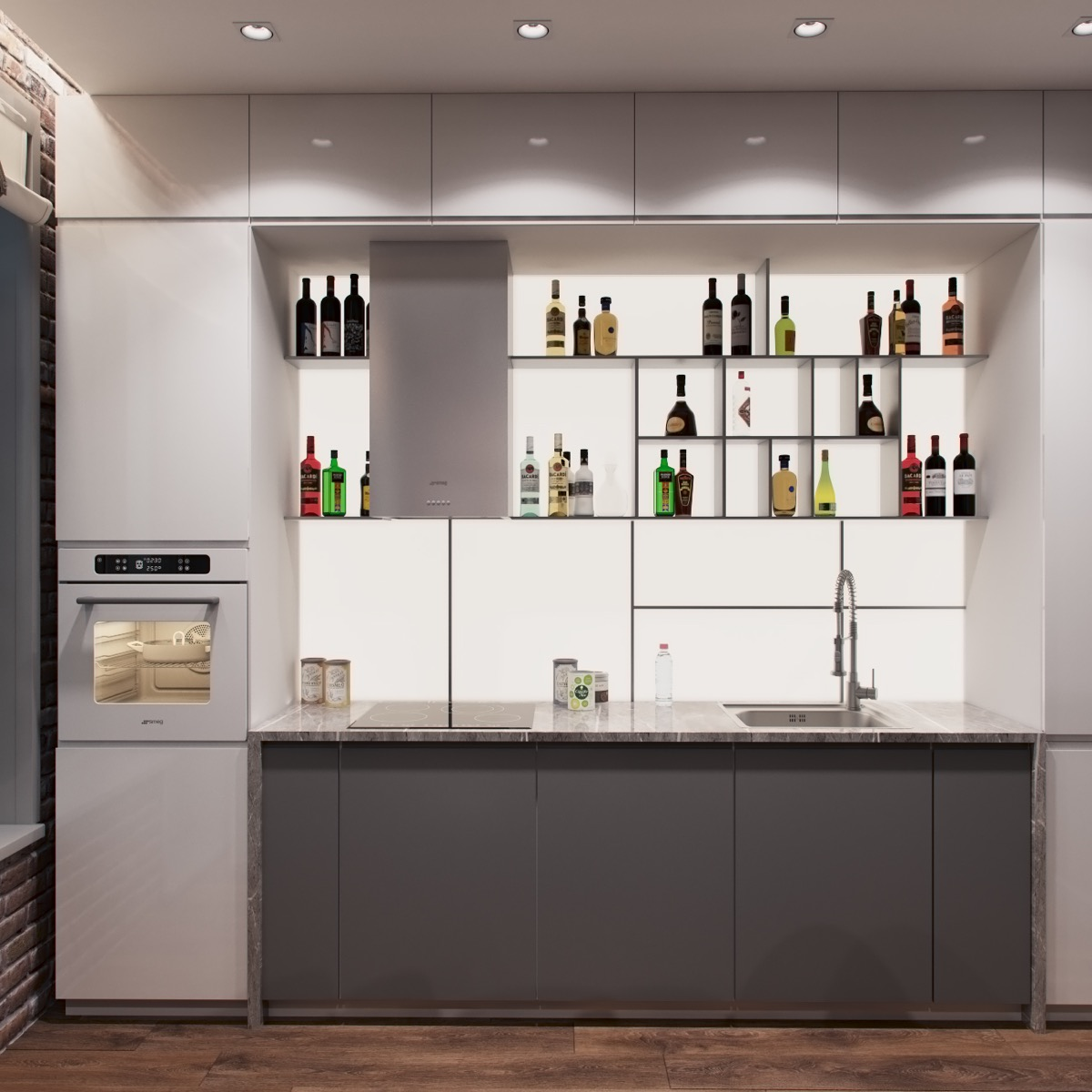 Open kitchen shelving 40 classy examples that show how the pros 28 amipublicfo Image collections